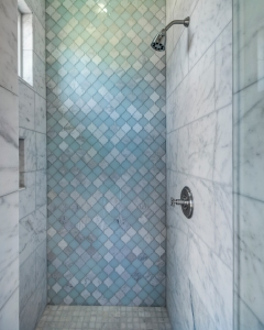 Pool Bath Shower, mosaic tile