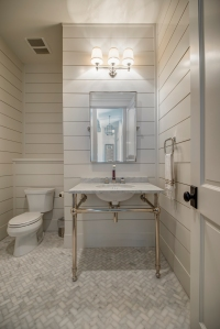 Powder Bath, plank walls
